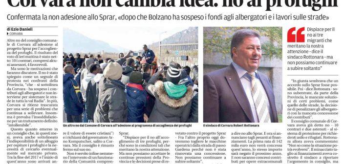 2018.05.26 Corvara – L'Alto Adige è sotto ricatto!